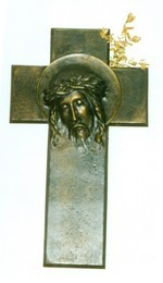 Jezushoofd op kruis