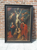 Olieverfschilderij Kruisdoood van Christus