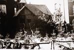 Foto: straatversiering: tafereel Groenplein / Lombaardstraat (Virga Jessefeesten, Hasselt, 1947)