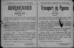 Hasselt, affiche van 26 maart 1919 - verbod op vervoer van levende duiven waar staat van beleg van kracht is.