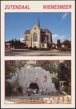 Zutendaal. Wiemesmeer. Sint-Jozefkerk. Grot
