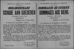 Hasselt, affiche van 13 augustus 1919 - aangeven en bepalen van materiële oorlogsschade.