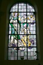 De Heilige Petrus vraagt aan de Heilige Amandus om Gallië te evangeliseren.