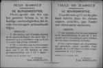 Stad Hasselt, affiche van 27 november 1918 - stoeten en samenscholingen van meer dan zeven personen verboden na 17 uur.
