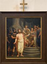 Schilderij kruisweg eerste statie