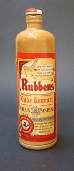 Stoop 'Oude Genever' voor Rubbens, Zele, ca. 1950