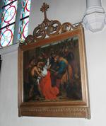 Jesus wordt door Simon geholpen