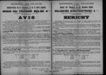 Brussel, affiche van 6 januari 1919 - regeling betreffende de terugbetaling van schatkistbons.
