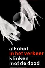 Affiche 'Alkohol in het verkeer, klinken met de dood', 1964