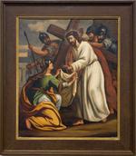 Schilderij kruisweg zesde statie