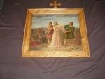 10de statie kruisweg: Jezus wordt van zijn kleren beroofd