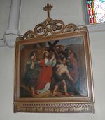Jesus neemt het kruis op zijne schouders