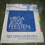 Vijf vaandels voor de Virga Jesse feesten