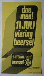 Affiche voor de 11-juliviering, georganiseerd door de Cultuurraad van Beersel