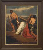 Schilderij kruisweg derde statie