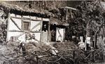 Foto: straatversiering: Huis van Hendrik, eerste inwoner van Hasselt, Minderbroedersstraat (Virga Jessefeesten, Hasselt, 1947)