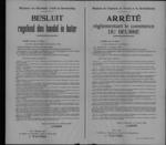 Brussel, affiche van 8 februari 1919 - handel in boter.