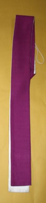Witte/paarse stola