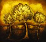 schilderij met herfstlandschap