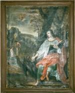 H. Johannes de evangelist schrijft het evangelie