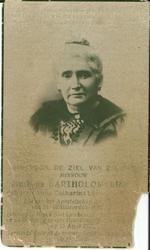 Mevrouw Matheus BARTHOLOMEEUS geboren Catharina lu???? (onleesbaar)