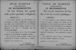 Stad Hasselt, affiche van 27 november 1918 - Duitse wapens, munitie of ander wapentuig inleveren op politiecommissariaat.