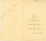 Menukaart huwelijk Lily's Heeren - Henri Vanstreels