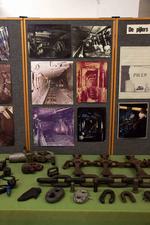 Pijler met trommelsnijmachine en pantser