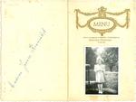 Menukaart communie Jeannine Marbaise