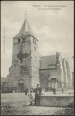 Wellen. De kerk en de fontein Wellen. L'église et la fontaine