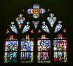 Glasraam met de overbrenging van het Heilig Sacrament van Mirakel