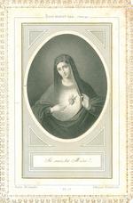 Bidprent Litanies du Saint Coeur de Marie.