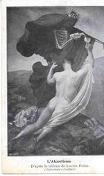Postkaart 'L'Alcoolisme, D'après le tableau de Lucien Foller.', ca. 1900-1920