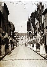 Foto: straatversiering: Hemelrijk (Virga Jessefeesten, Hasselt, 1947)