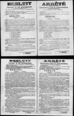 Affiche van 20 november 1918 - regels inzake verkeer in grensgebied.