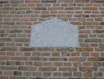 gedenksteen bouw kerk