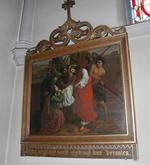 Jesus aengezigt wordt afgedroogd door Veronica