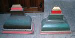 Twee wandconsoles