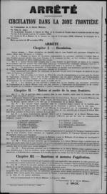 Affiche van 9 januari 1919 - regeling inzake grensverkeer met Nederland.