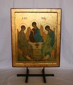 Icoon van de oudtestamentische Drievuldigheid