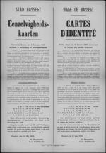 Stad Hasselt, affiche van 13 mei 1919 - regelingen betreft eenzelvigheidskaarten.
