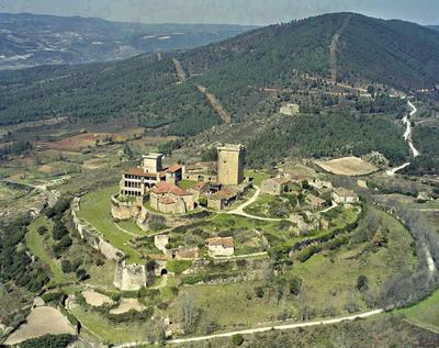 Vista xeral do Castelo. Monterrei.