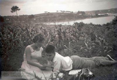 Fotografías dunha parella dos anos 50 e 60 do século XX