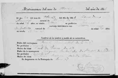 Ramallal de Torres, Bernardino Carballido Sanchez, Manuela