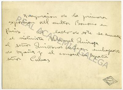 Inauguración da exposición individual de Santiago Bonome nas Galerías D´Art Anciene, en París