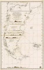 Carta esferica de las costas de la America Meridional desde el paralelo de 36º 30' de latitud S. ...: Levantada ... en 1789, 90, 94, y 95 por varios Oficiales de su R.l Armada ... Año de 1798