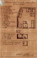 Planta baixa do interior das muralhas do Castello de Lindozo na provincia do Minho: planta do sigundo andar: terceiro andar da torre com janella de vista para cima do dito e ho q.tel
