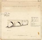 Copia do esboço da planta e alçado da ponte dormente de madeira que dá entrada para a cidadella da praça de Peniche