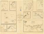 Carta geral que comprehende os planos das principaes barras da costa de Portugal: aqual se refere a carta reduzida da mesma costa