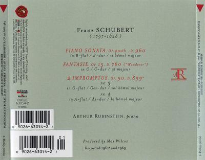 Piano sonata, D. 960 ; Fantasie op. 15, D. 760 (